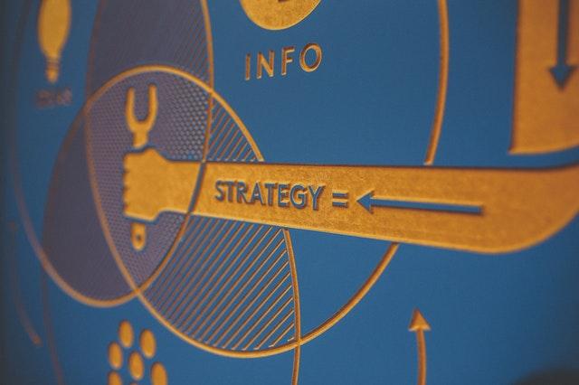 Obrazek - ręka z napisem strategy