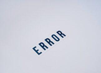 "napis ""Error"""
