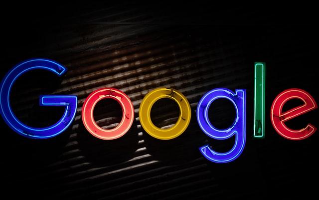 """Kolorowy napis """"Google"""""""