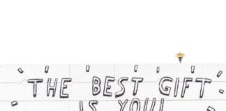 """Napis na ścianie """"the best goft is you"""""""